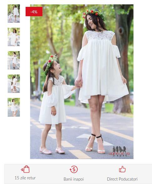 Reclama: Seturi rochii mama-fiica, tinuta lejera !
